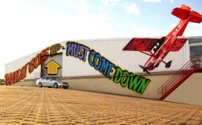 Above paints massive warehouse in Cape Town (and releases new book!)