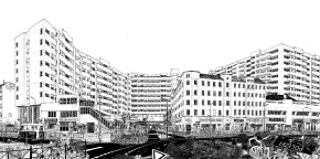 Chrisse Kunst illustrations and drawings of Berlin