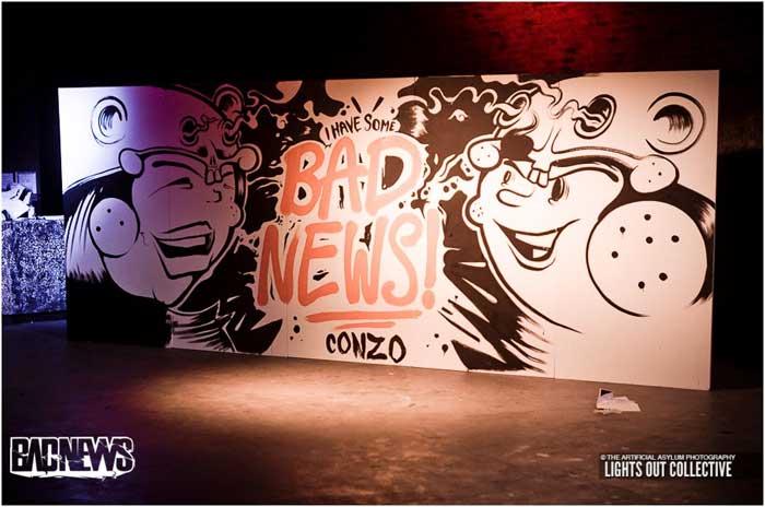 Piece for Glasgow's top bass night, 'Bad News' - Conzo
