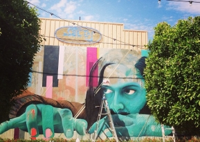 First JBAK collaborative mural in Arizona with Julia Benz