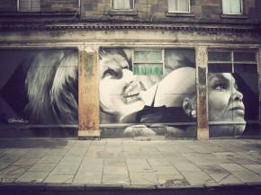 Guido van Helten mural in Leith, Edinburgh
