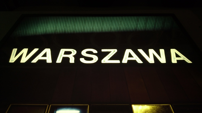 Warsaw Neon sign